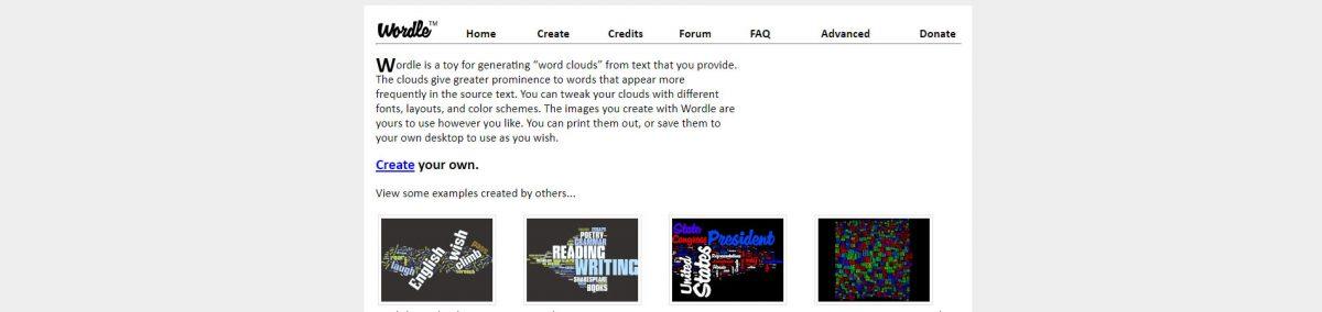 Wordle: Construir Nuvens de Palavras