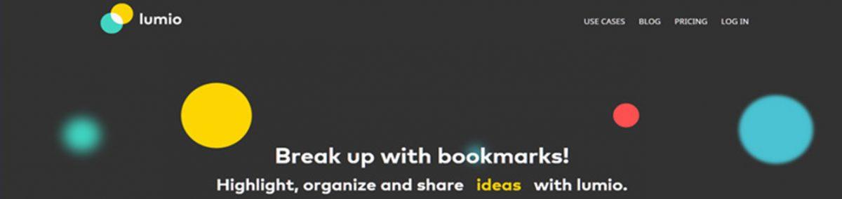 Lumio: Organizar informação online