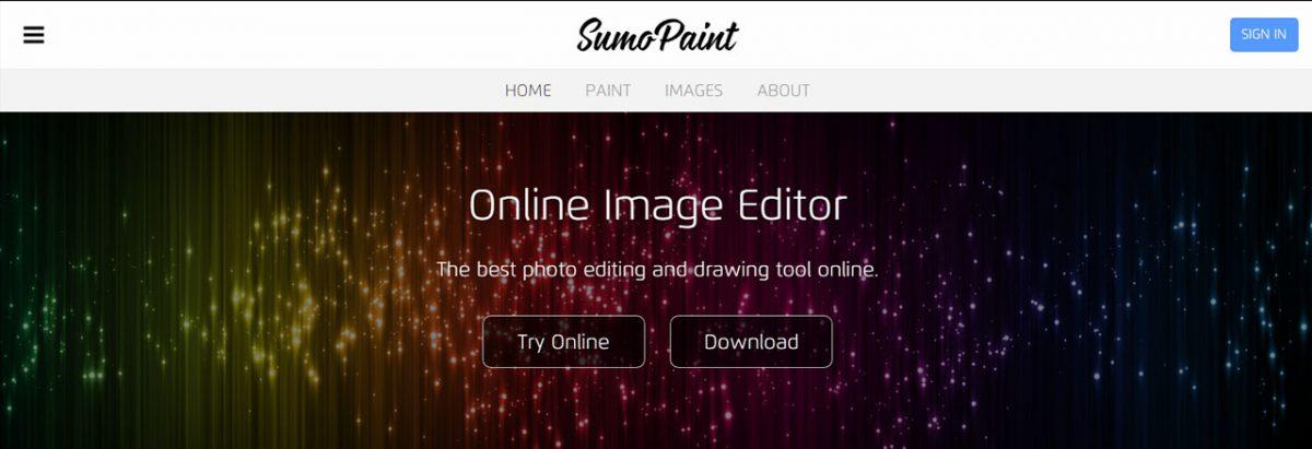 SumoPaint: Editar Imagens Online