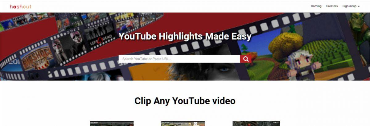 Hashcut: Fazer clips de vídeos do Youtube