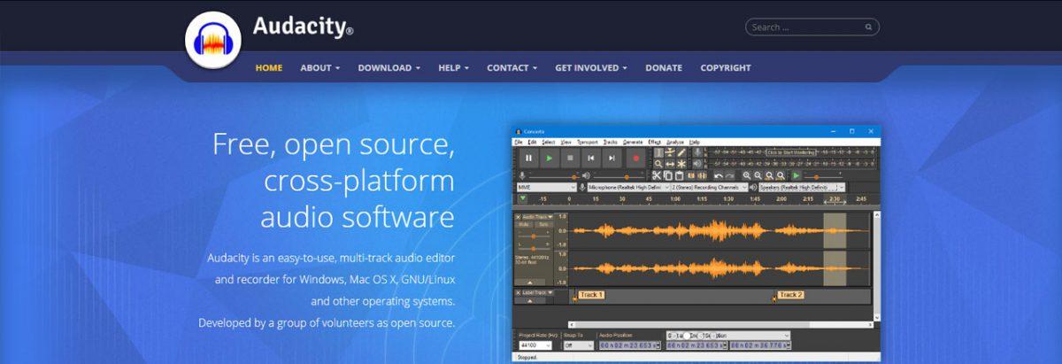 Utilitario wen - Audacity: Editar e gravar áudio