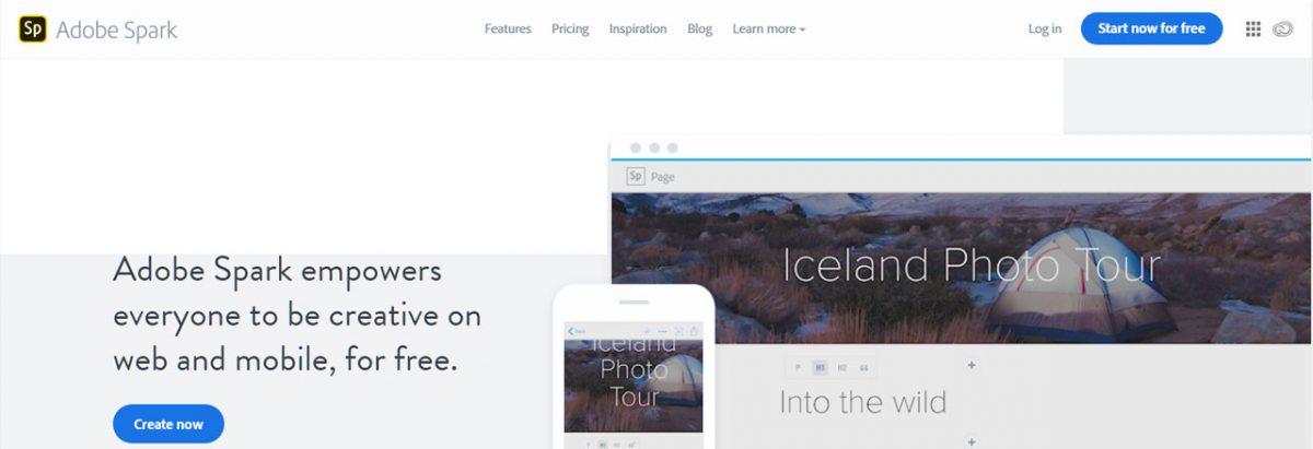 Adobe Spark: Criação de conteúdos online