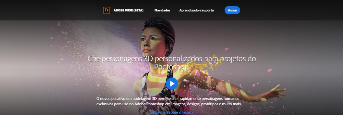 Adobe Fuse: Criar personagens 3D
