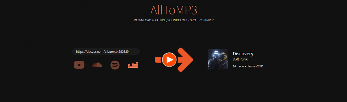 Alltomp3 Converter áudio para MP3