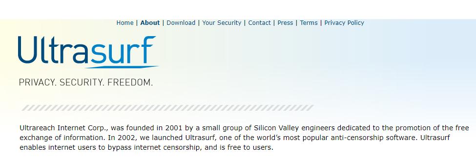 UltraSurf: Navegar anónimo na Internet